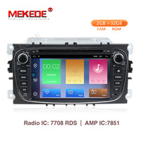 MEKEDE 2+32G Car Multimedia Player Android 9.1 GPS 2 Din car dvd player for FORD/Focus/S MAX/Mondeo/C MAX/Galaxy wifi car radio