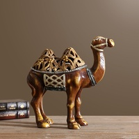 Camel Sculpture Jewellery Box Decorative Resin Desert Animal Jewelry Casket Tabletop Art and Craft Gift Ornament Accessories