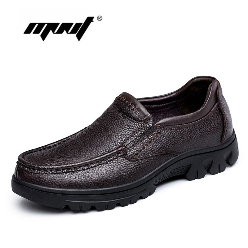 Genuine Leather Shoes Men Plus Size Men Casual Shoes Slip On Loafers Moccasins Top Quality Outdoor