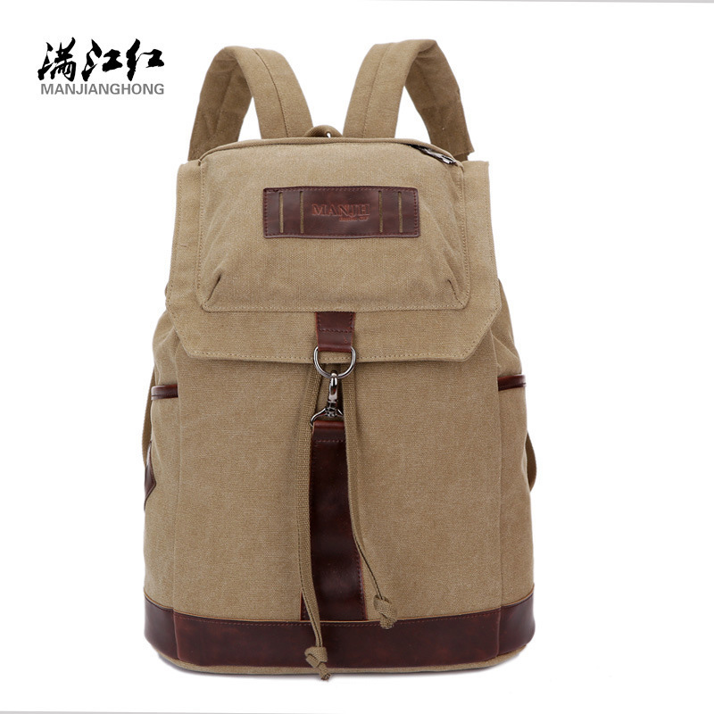 Manjianghong Men's Canvas Backpack Casual Laptop Back Pack Bags Vintage School BackPacks Large Capacity Casual Bags for Travel large capacity backpack laptop luggage travel school bags unisex men women canvas backpacks high quality casual rucksack purse