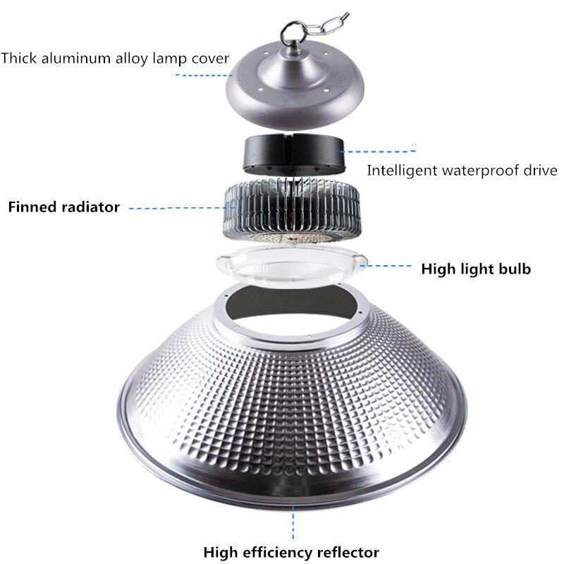 Us 450 Płetwy Led Lampa Górnicza żyrandol 100w200w150w250w Oświetlenie Do Warsztatu żarówka Led Super Bright High Power Fabryka Roślin światła Led