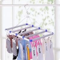 Aluminum Alloy Clips Windproof Clothing Diapers Hanger Stainless Steel Clip Socks Drying Rack