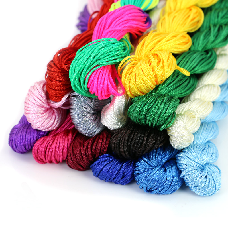 Nylon Cord Thread Chinese Knot Macrame Rattail 1mm*25M For DIY Bracelet Braided Jewelry Findings Accessories недорго, оригинальная цена