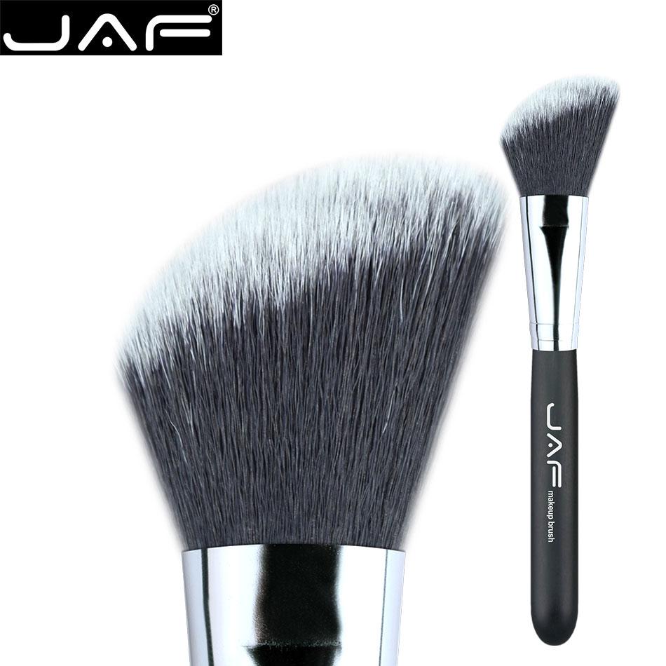 3 colores de la manija Fundación Pelo sintético Pincel de maquillaje highlighter brush face contour corrector cepillos herramientas de belleza