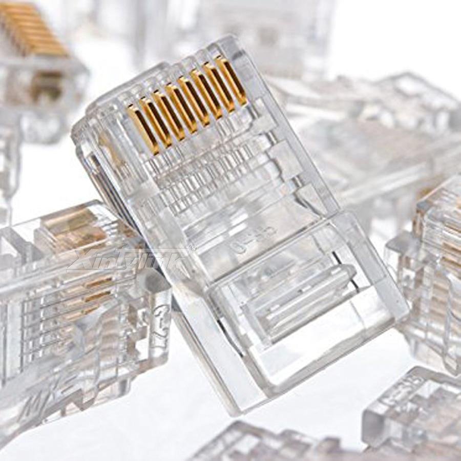Conectores utp modular macho 50 pcs Feature a : 8p8c Rj45 Cat6