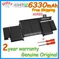 No falso genuino a1493 batería para apple macbook pro retina 13 ''pulgadas A1502 ME864 ME865 71.8Wh Batería 2013 2014 Año 11.34 V