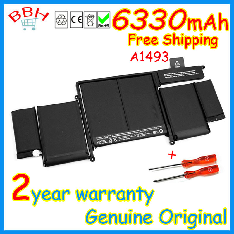 ФОТО not fake genuine A1493 battery for apple Macbook Pro Retina 13'' inch A1502 ME864 ME865 Battery 2013 2014 Year 71.8Wh 11.34V