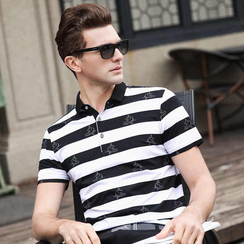 2019 New arrival 3D Embroidery Poloshirt fashion men   polo   shirt brand   polo   Top Quality men cotton breathable men   polo