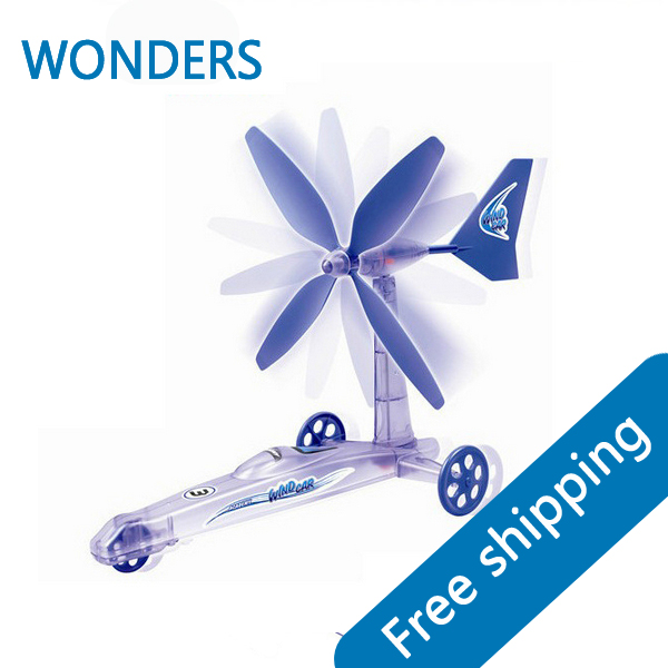DIY wind hybrid scientific experiments, toy wind power wisdom assembled baby gifts for children learning education toys