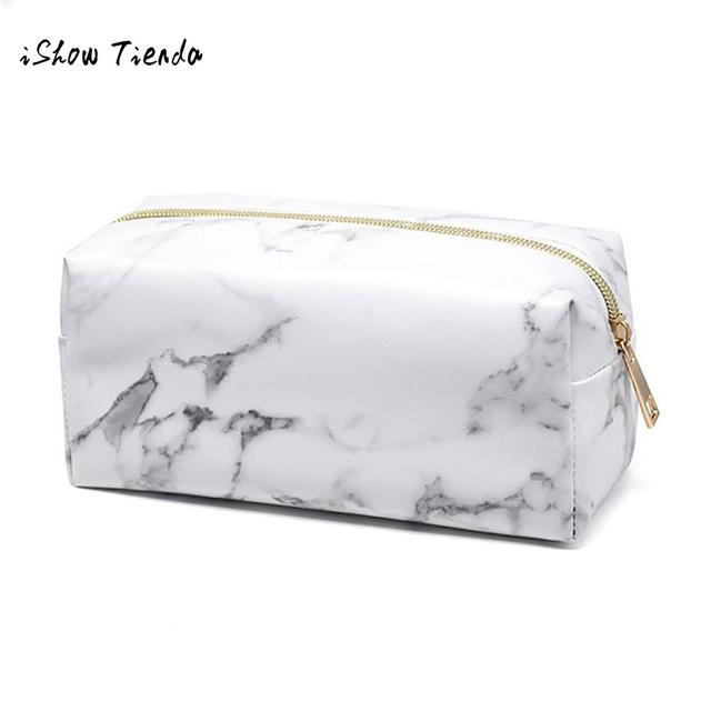252475778b01 Marble Pattern Makeup Brush Storage Bag Beauty Travel Cosmetic Bag Girls  Make Up Wash Organizer for toiletries toiletry kit