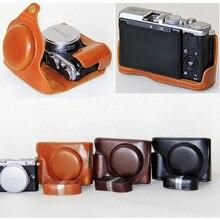 Haute Qualité PU En Cuir Amovible Camera Case Pour Fujifilm X70 Avec la Courroie numérique caméra d'épaule sac