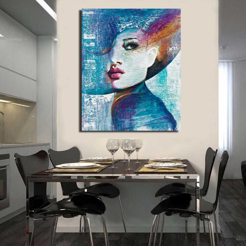 شحن مجاني مجردة الحديثة 100% هاندبينتيد مارلين مونرو على لوحة زيتية قماشية صورة غير مؤطرة