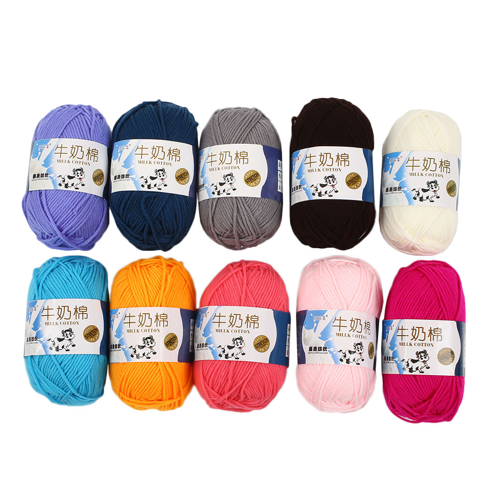 1Ball 50g Silk Hand knitted Milk Cotton Thick Yarn Sweater Wool Weave Thread пляж на самуи