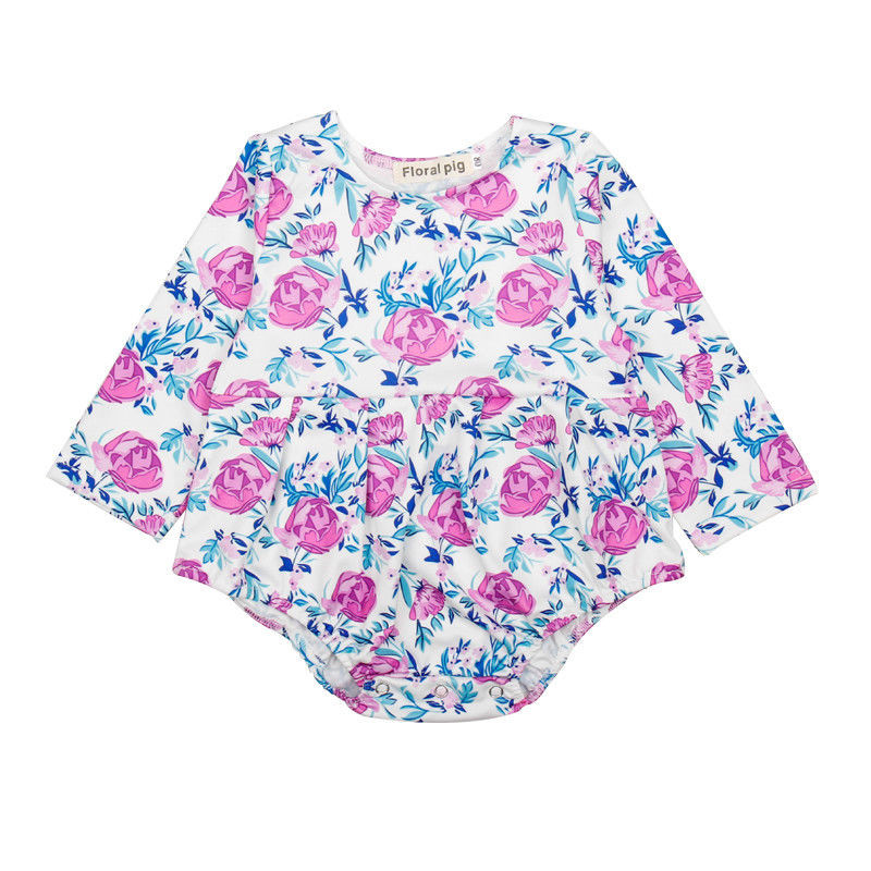 0 to 18M Newborn Kids Baby Girls Clothes High Quality Floral Long Sleeve Romper Jumpsuit Playsuit Outfits Baby Clothing