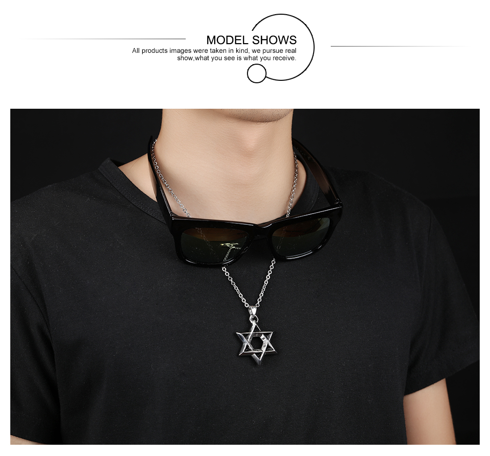 Star Of David Stainless Steel Pendant Men Necklace With Religious Words  Link Chain Punk Rock Style Jewelry Gift For Boy-in Pendant Necklaces from  Jewelry ... a71f045e18b2