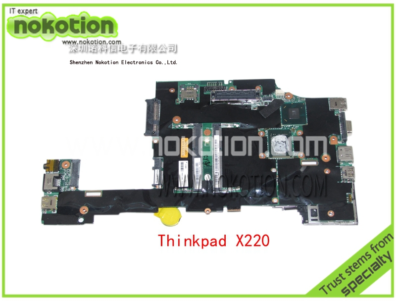 все цены на  NOKOTION FRU 04W2123 laptop motherboard For Lenovo Thinkpad X220 X220i with SR04S i3-2310M CPU QM67 mainboard  онлайн