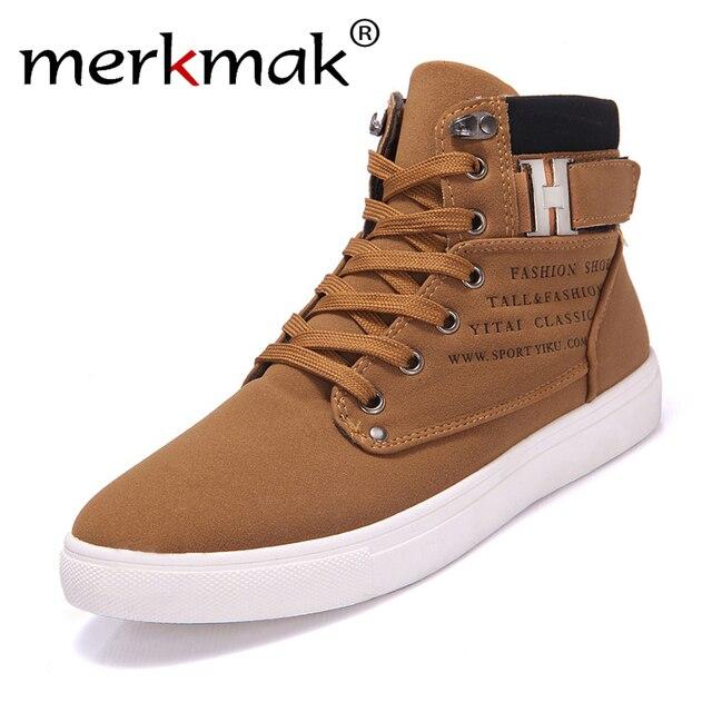 2016 Venta Caliente Primavera Invierno Hombre Botines Moda Zapatos de Los Hombres con Piel Gruesa Ocasional Zapatos Masculinos de Estilo Británico de Alta Superior Para Hombre zapatos