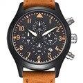 Benyar à prova d' água 30 m analógico data de relógios de luxo da marca dos esportes da forma do couro genuíno dos homens relógio de quartzo relógio relogio masculino