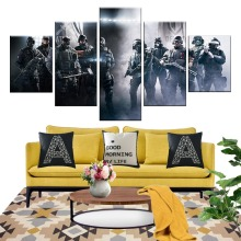 5 Piece Games Art Print Rainbow Six Siege Poster Paintings Soldiers Pictures Canvas Decorative Wall