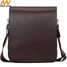 Awen Shaw Vintage Small Mens Leather Messenger Bag With Card Position Inside Luxury Brand Cross Body Shoulder For Male