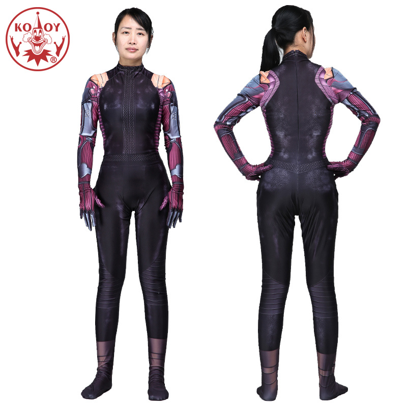 Hot Alita Battle Angel Jumpsuit Cosplay Costume Halloween Women Superhero 3D Printed Bodysuit Zentai