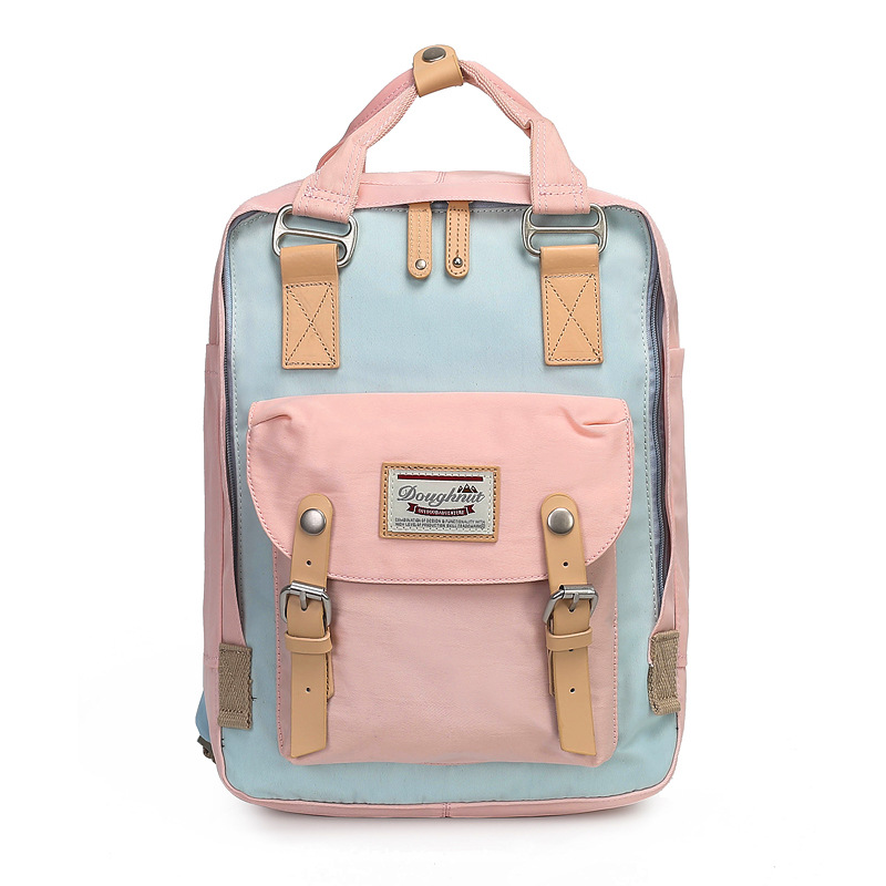 Donuts Double Shoulder Packs Girls' Backpacks High School Students Campus Oxford Canvas Bags New Travel Bags