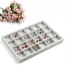 Venta caliente Exhibición de La Joyería Caso Todo tipo de pequeña adorna el artículo se puede colocar plato Show Case caja jewelry show 24 ciñe bandeja