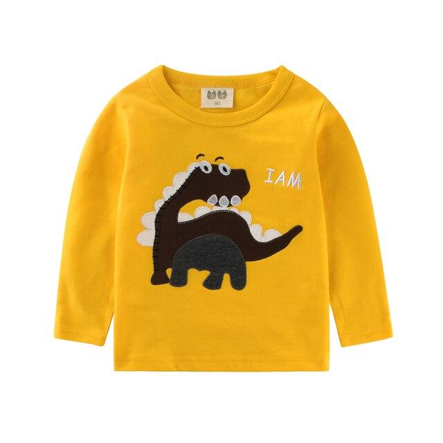 31cde9eba Funny girls t shirts baby boy long sleeve tops long boys t-shirt kids tshirt  Dinosaur kid Clothing Children top girl clothes
