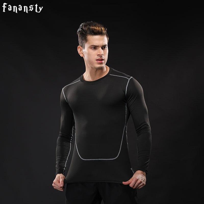 Kompression shirt Männer Langarm Fitness Schnell trocknend Laufen - Sportbekleidung und Accessoires - Foto 2