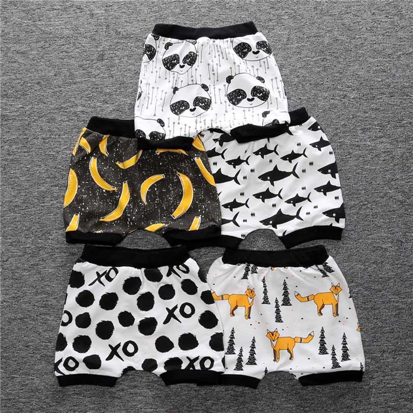 Boys Cotton Bloomers Bloomers Striped Modern Fox Panda Children Shorts Kids Children Short Girl Summer Short Pants Toddler 0-4Y