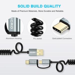 Image 5 - كابلات الشحن السريع من CHOETECH كابل ميكرو 2 في 1 + كابل USB من النوع C لهواتف سامسونج وكابل الهاتف المحمول نوكيا N1
