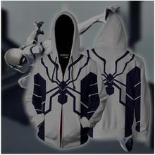 76da94afe 3D Print Future Foundation Spider-Man Cosplay Zip Up Hoodie Jacket Men  Women Fashion Hooded