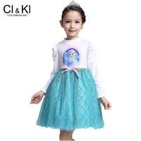 CuilinKailan dress Princess Girl kids Baby Clothing fever anna elsa Cosplay Costume fantasia Vestido Infantis children