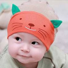 2016 Hot Soft Cotton Baby Hat Lovely Cat Stripe Beanie Winter Toddler Infant Newborn Kids Cap Boys Girls Hat Accessories