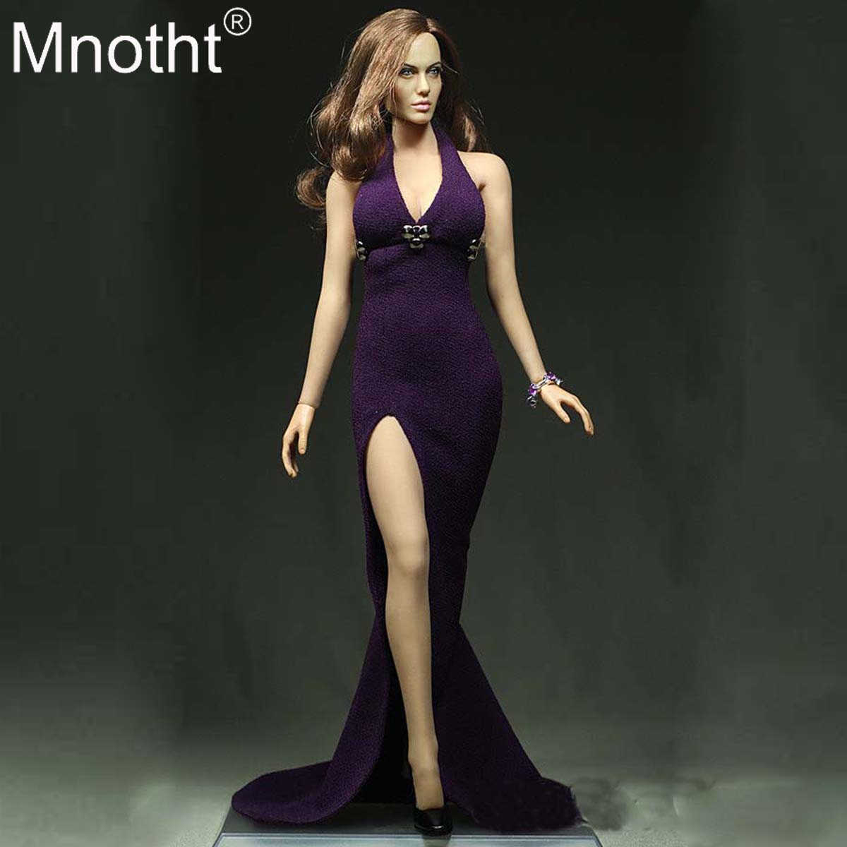 cbdcb67025 Pre-sale 1/6 Scale Purple Women's clothes Sexy Long Dress Model Toy For 12in  Phicen Glue Female Soldier Body Collection Hobbies