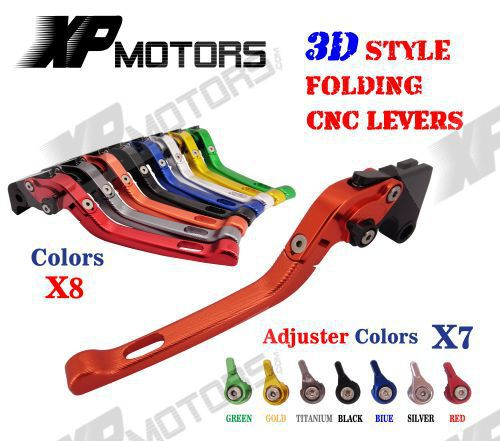 ФОТО Adjustable CNC 3D Feel Folding Brake Clutch Lever For Yamaha XJ600S Diversion 1993-2002 XJ600N 1994-2002 XJ400 L/S 1992-1993