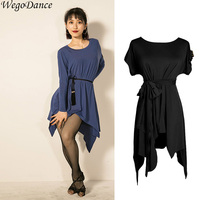 Latin dress new style dance short sleeve loose latin dance dress women
