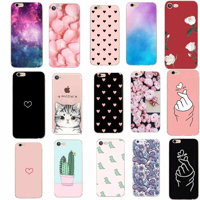 Liefde Case Voor Iphone 7 Case Luxe Tpu Silicon Funda Cover Voor Iphone 5 5S Se 6 S 6 S 7 8 Plus 7Plus 8 Plus X Xs Case Coque