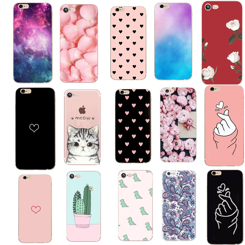 Liebe Fall Für <font><b>Iphone</b></font> 7 Fall Luxus TPU Silicon Funda Abdeckung Für <font><b>Iphone</b></font> 5 5S SE <font><b>6</b></font> S <font><b>6</b></font> S 7 8 Plus 7Plus 8 Plus X XS Fall Coque image