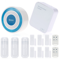 2106 Wireless Intelligent Sound & Flash Alarm System IOS& Android APP Remote Control Wifi Alarm System For Home House Security