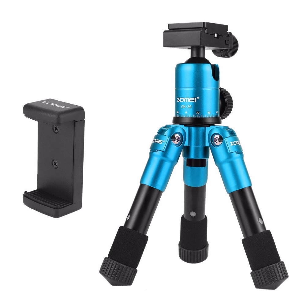 Zomei Lightweight CK45 Mini Travel Tabletop table tripod Desktop Tripod for Smartphone DSLR Camera and Mobile Phone qingzhuangshidai universal mini tripod desktop handle stabilizer for mobile phone camera with cell phone holder