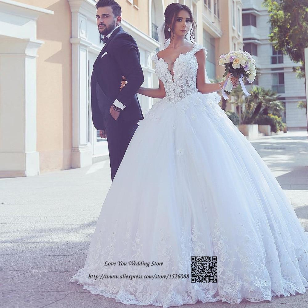 Abiti Da Sposa Vintage Ball Gown Wedding Dresses Turkey Lace China Bridal Gown Beaded Plus Size