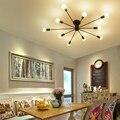 Потолочные светильники винтажные лампы для гостиной Iluminacion потолочный светильник из кованого железа Luminaria E27 лампа для дома осветительные п...