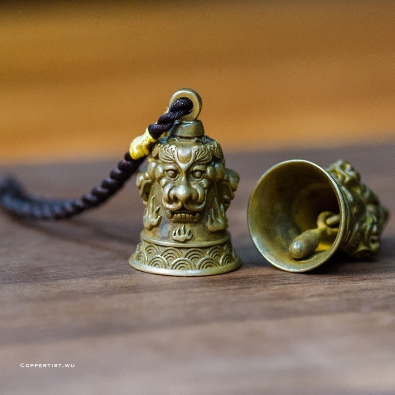 coppertist.wu the lion Tinkle Bell Long Charm Dangle Jewelry Key Chain Navigation Styles Brass Bell Decoration Bag Accessories