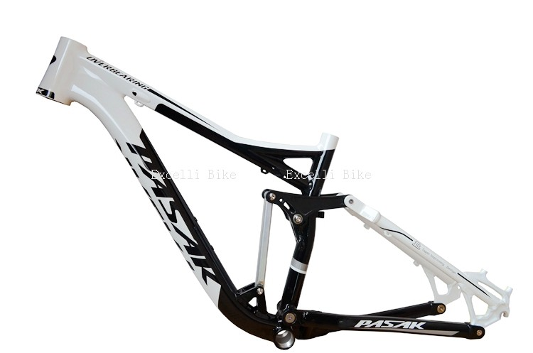 7005 Aluminum Alloy Cycling Frame Soft-tail Frame Full Suspension Downhill Mountain Bike26 27.5 Frame For Disc Oil Brake for 21 speeds06
