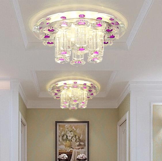 ФОТО 5w LED modern ceiling lights living room crystal lampshade AC85-265V hallway LED lamps abajur luminaria