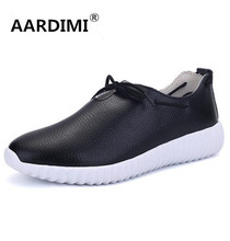 Top quality black white women shoes genuine leather spring designer solid women trainers outdoor casual walking