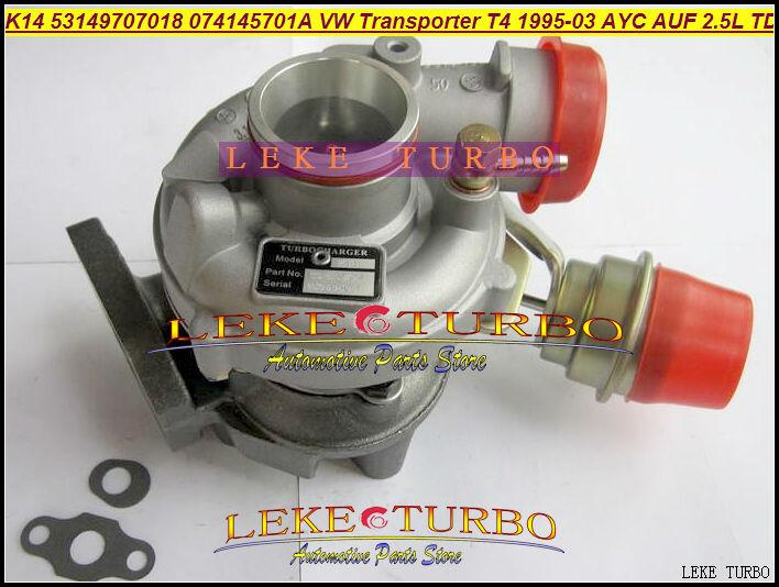 Free Ship K14 53149707018 53149887018 074145701A Turbo Turbocharger For Volkswagen VW T4 Transporter 95-03 AJT AYY ACV AYC 2.5L