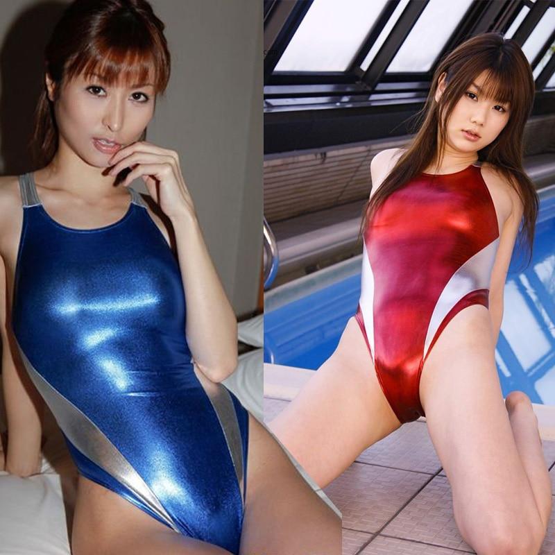 Японское аниме, сексуальный костюм с высокой вилкой, sukumizu, колготки, Женский цельный купальник, большой размер, M-4XL