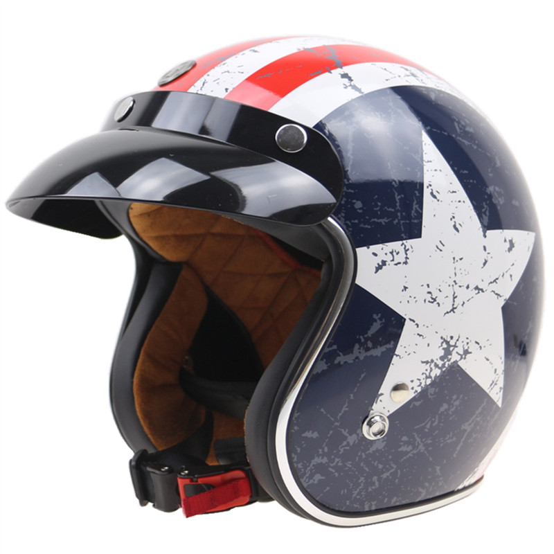 Capatain Америка Стиль мотоцикл шлем 3/4 открытым лицом мотоциклетный шлем Новинка шлем безопасности и красивый КАСКО